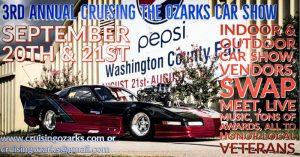 3rd Annual Cruising the Ozarks Car Show @ Washington County Fair   Fayetteville   Arkansas   United States