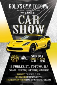 Gold's Gym Totowa - 2nd Annual Car Show @ Gold's Gym Totowa | Totowa | New Jersey | United States