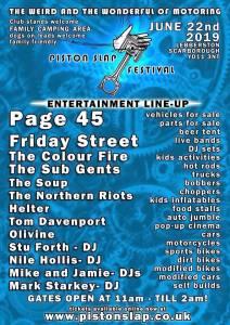 Piston Slap Festival @ Lebberston, Scarborough | Lebberston | England | United Kingdom