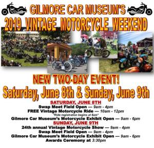 Vintage Motorcycle Weekend @ Gilmore Car Museum | Hickory Corners | Michigan | United States