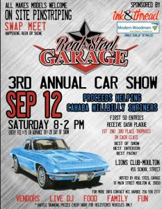 3rd Annual Real Steel Garage Car Show @ Moulton Lions Club | Moulton | Alabama | United States