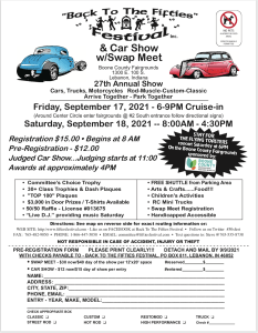 """27th Annual """"Back to the Fifties"""" Festival @ Boone County Fairgrounds 