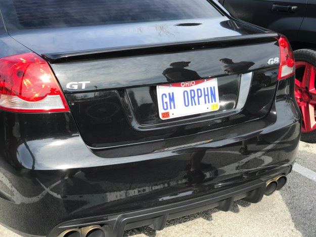 Columbus Cars and Coffee license plate