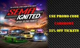 SEMA Ignited 2019 CarShowz Promo Code