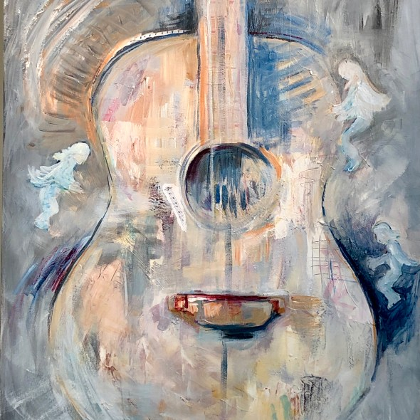 guitar faeries painting