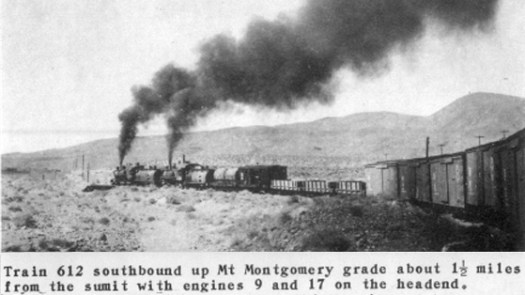 Doubleheading up Montgomery Pass (The Western Railroader)