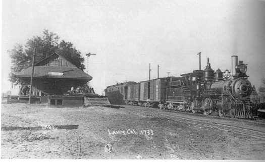 """number 5 """"the BelleVille"""" - a Baldwin 4-4-0 built in 1882. One of the original C & C locomotives ... scrapped in 1932 (Forbes photo/McCutchan collection)."""