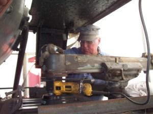 Marty grinding away.