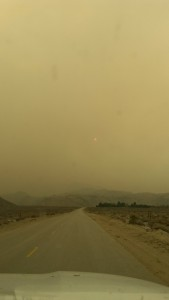 Wednesday and Thursday proved very smoky from the fire over the mountains in Sequoia