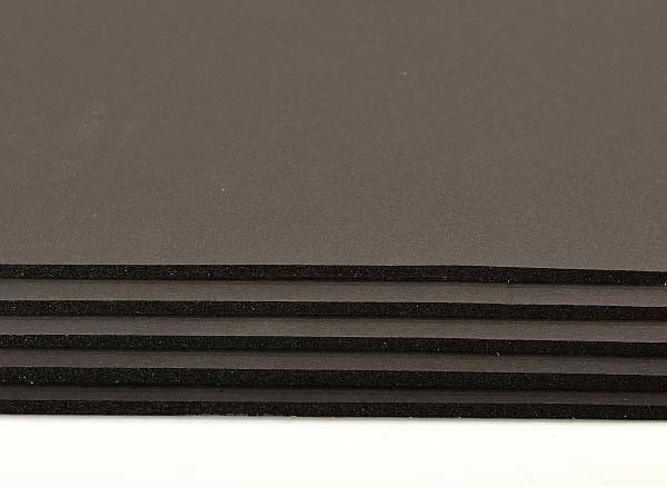 black flex rubber foam self adhesive stack of sheets