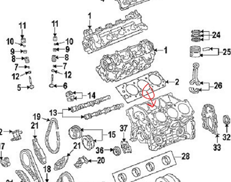 Toyota and Lexus 2GR-FE 3.5L V6 coolant/head gasket leak
