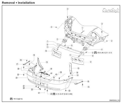 Ремонт автомобиля Nissan Almera Classic B10 с 2006 ESM