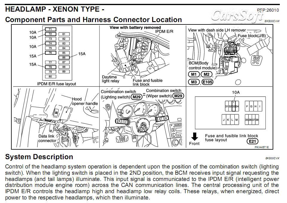 Ремонт автомобиля Nissan 350Z Z33 2003-2008 ESM