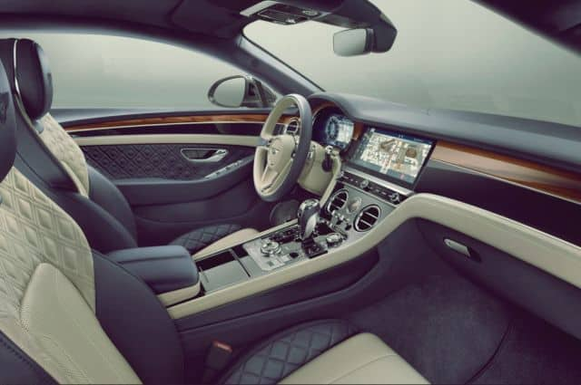 Interior of Bentley Continental GT - 2019 Bentley Continental GT