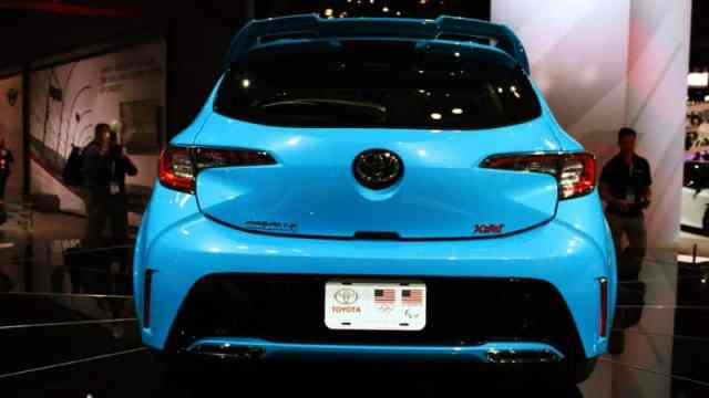 2019 Corolla at New York Auto Show