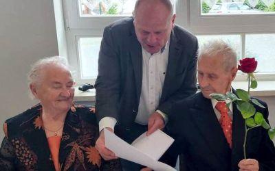 Gerda und Willy Reich feiern Eiserne Hochzeit