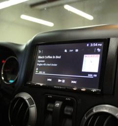 sony double din installed in 2013 jeep wrangler [ 1280 x 853 Pixel ]