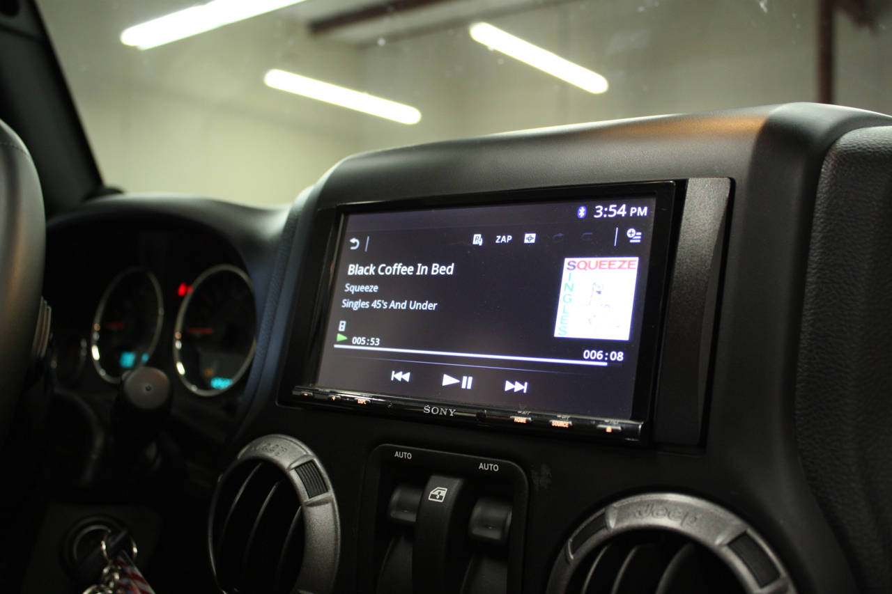 hight resolution of sony double din installed in 2013 jeep wrangler