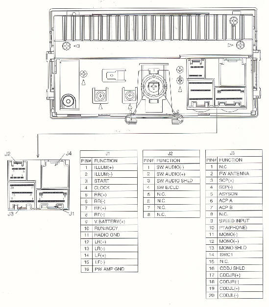 Car Audio Wire Diagram Codes Ford Factory Car Stereo Repair
