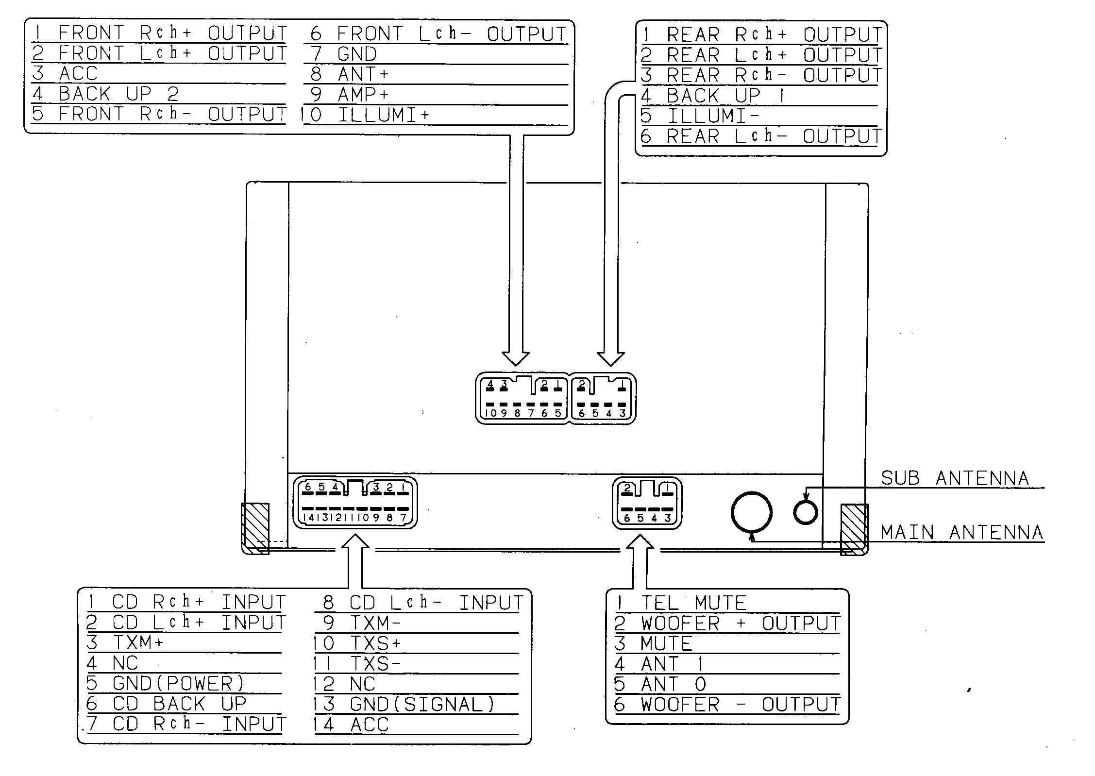 Car Audio Wire Diagram Codes Lexus Factory Car Stereo Repair
