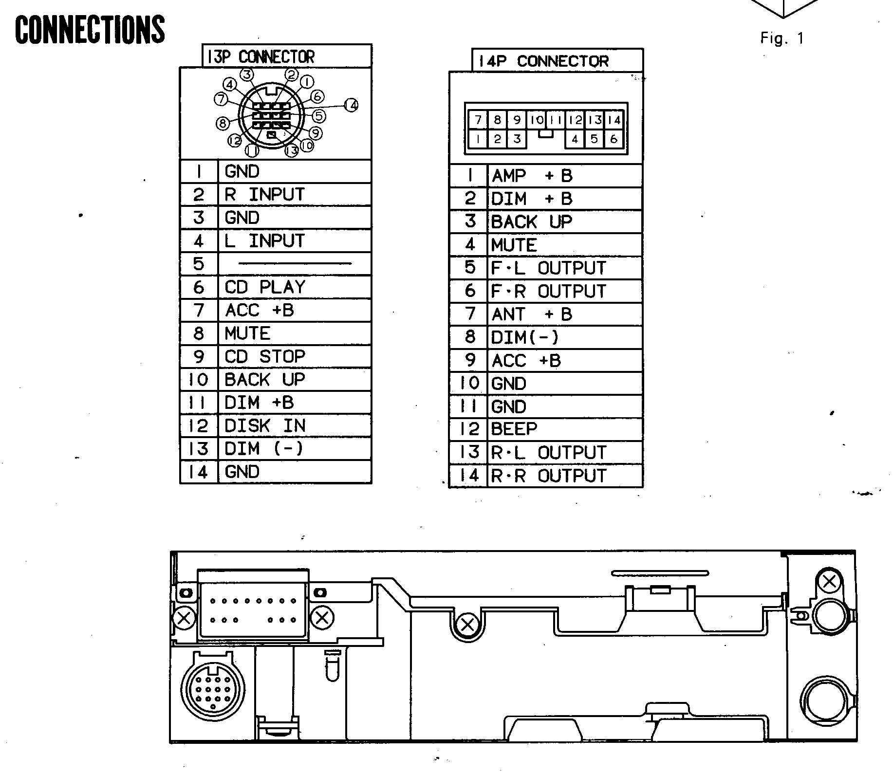 Panasonic R111u Wiring Diagram Best Secret Car Radio Stereo Cq C1100u Bazooka Audio Microwave
