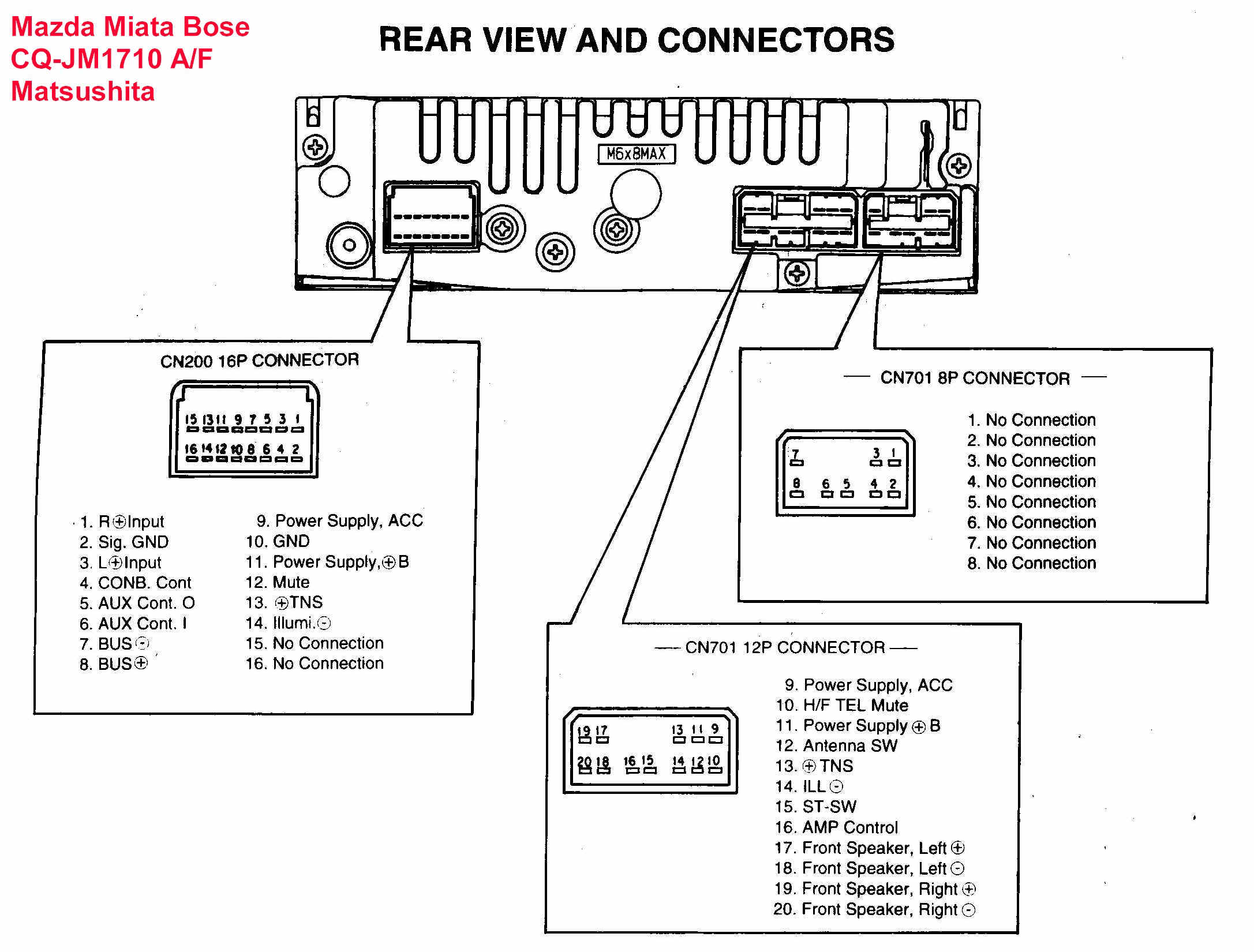 mazda wiring diagram color codes 2005 dodge magnum pump engine car audio wire factory stereo