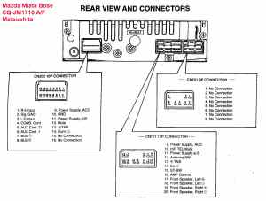 Car Audio Wire Diagram Codes Mazda  Factory Car Stereo