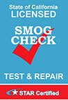 STAR Certified Smog Check in Belmont CA