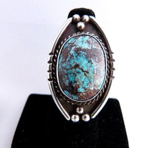 Native American Vintage Pawn Turqouise Ring