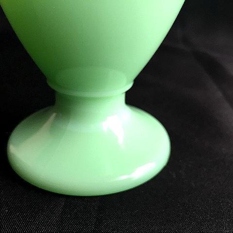 McKee Jadite Skokie Green Footed Custard Cup