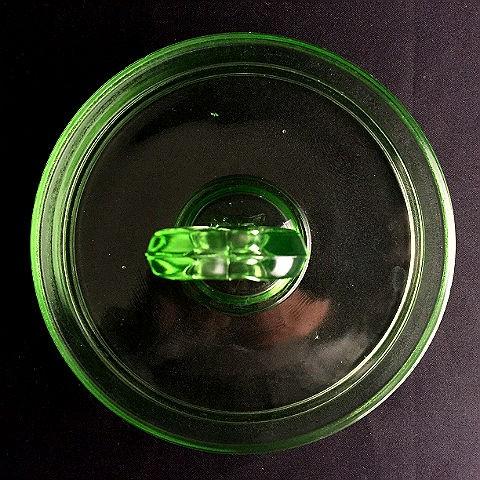 Heart Handle L.E. Smith Vintage Green Candy/Bon Bon Dish