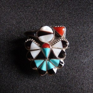 Zuni Thunderbird Sterling Silver Pin/Slide