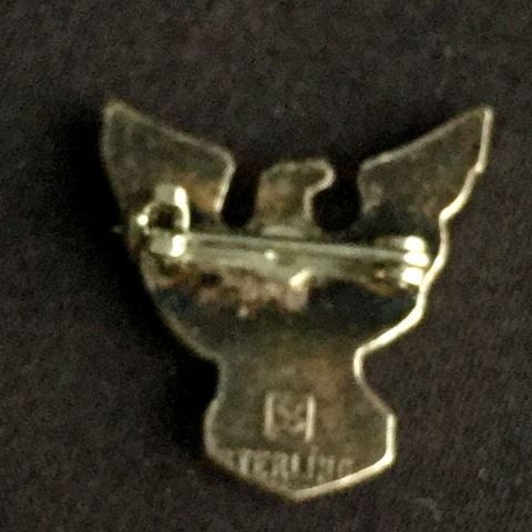Vintage Sterling Silver B.S.A. Eagle Scout Pin