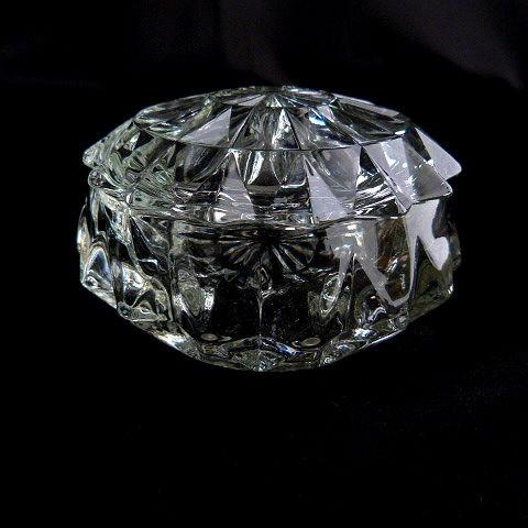 Collectible Vintage Cut Glass Powder Jar
