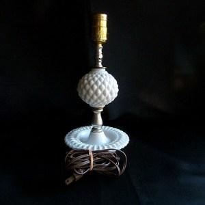 Fenton Milk Glass Lamp