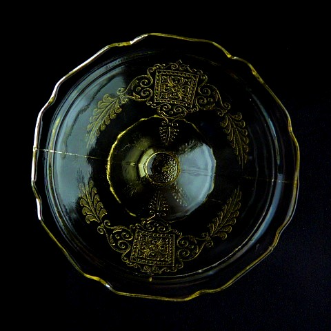 Yellow Depression Glass Sherbet Dish