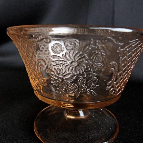 Normandie Pink Depression Glass Dish