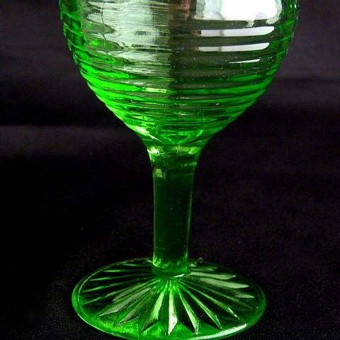 Circle Pattern Green Glass