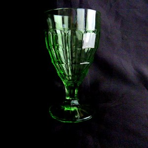 Hazel Atlas Colonial Block Water Goblet
