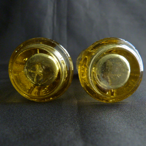 Madrid Amber Yellow Salt and Pepper Shakers