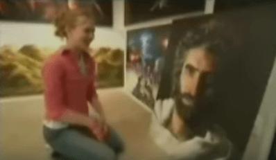 Akiane e tela de Jesus