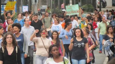Protesto de professores em Campinas