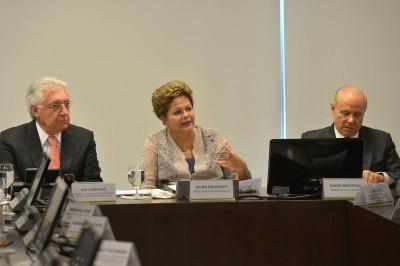 Guilherme Afif, Dilma Rousseff e Guido Mantega