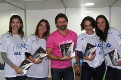 Promotoras e o galã da Globo, Murilo Rosa