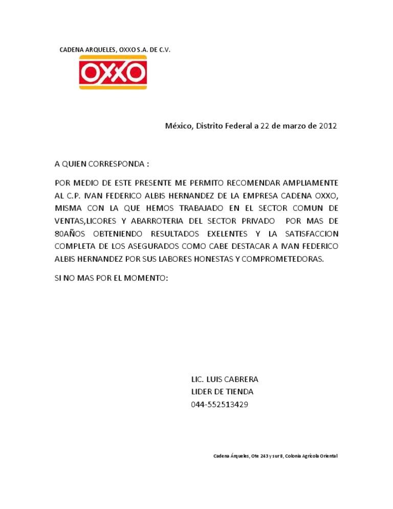 Ejemplo De Carta De Recomendacion Personal