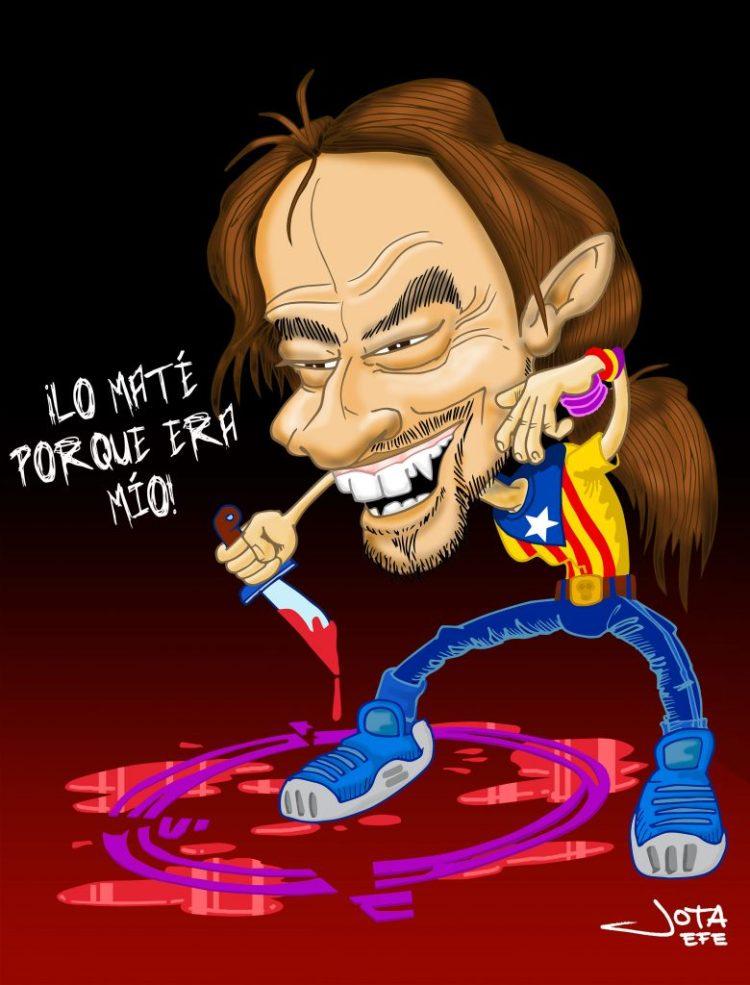 Pablo Iglesias, Podemos, caricatura.