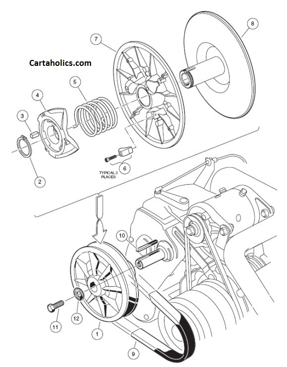 gas golf cart engines diagrams