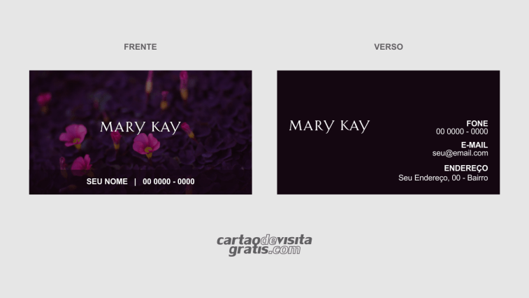 modelo de cartão de visita mary kay