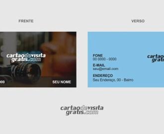 modelo de cartão de visita fotógrafo