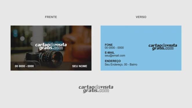 download modelo de cartão de visita fotógrafo vetor
